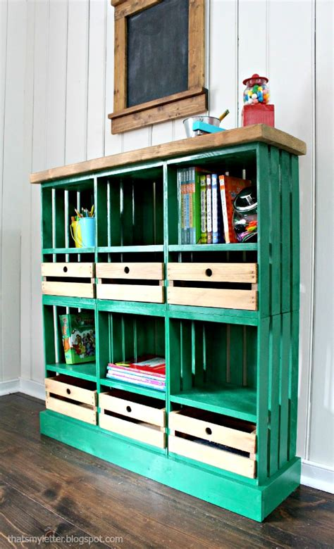 creative diy wood crate storage ideas
