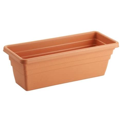 Plastic Planter Trough buy trough plastic planter 50cm 3 pk from our planters range tesco