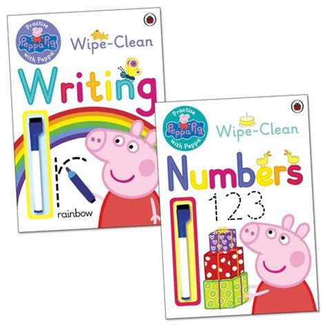 learning to peppa pig books peppa pig practise with peppa wipe clean learning pack