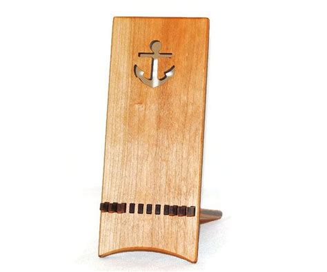 Nautical Desk Accessories by Wooden Phone Holder Anchor Phone Decor Nautical Desk