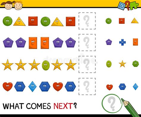 download pattern games preschool pattern game with shapes stock vector