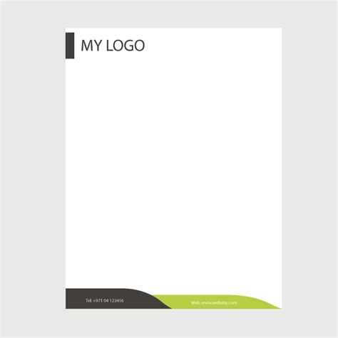 business letterhead design vector creative business letterhead template design free vector