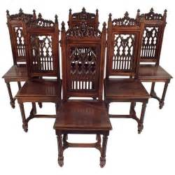 antique dining room furniture antique 1900 s gothic style dining chairs at 1stdibs