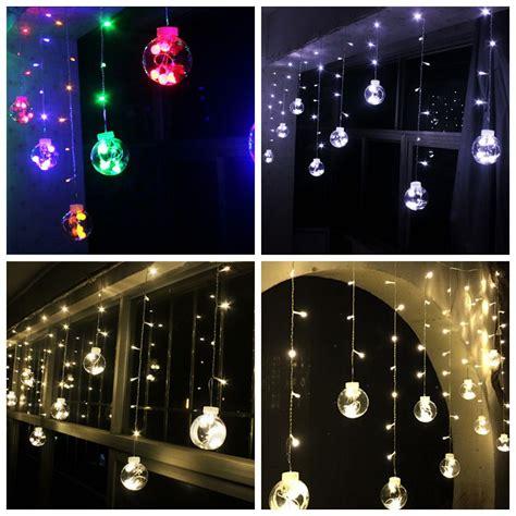 120 led christmas lights indoor curtain fairy string light
