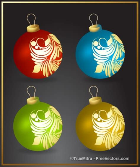 various colored christmas balls vector free download
