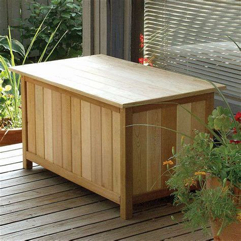 cedar storage bench outdoor outdoor wood storage bench treenovation