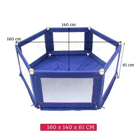 Mat For Playpen by Pokano Hexagonal Fabric Baby Playpen Mat Blue Tikk Tokk