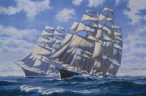 flying cloud boat oil painting of the clipper ship flying cloud by richard moore