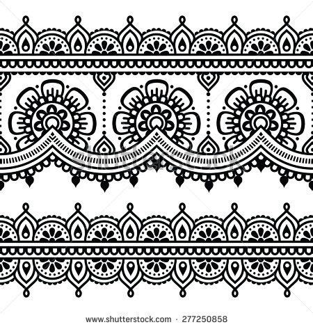 henna pattern vector mehndi indian henna tattoo seamless pattern by redkoala