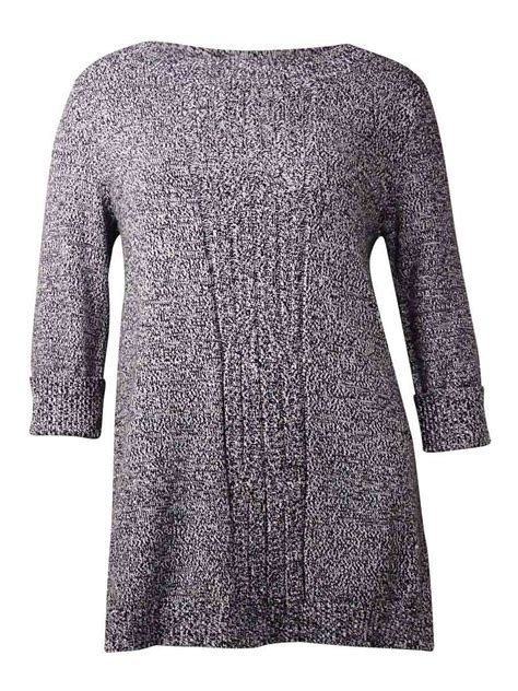 style co knit pattern tunic sweater style co women s cable knit tunic sweater ebay