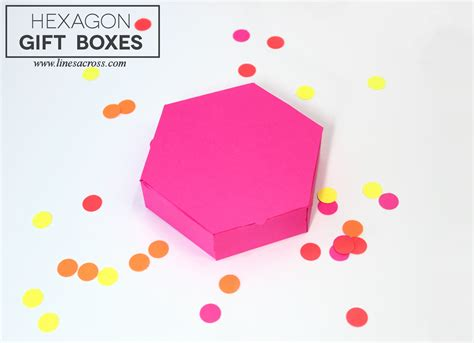 15 paper gift boxes with free templates lines across