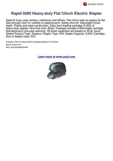 heavy duty electric stapler reviews rapid 5080 heavy duty flat clinch electric stapler review