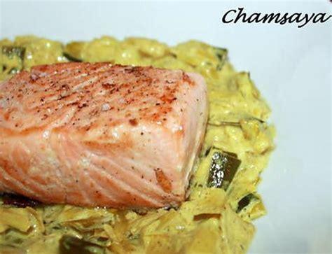 recette de pav 233 de saumon sur lit de poireaux