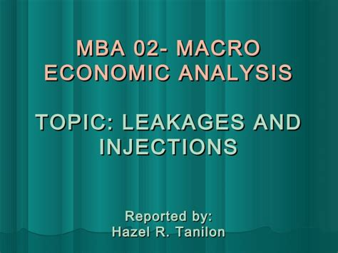 What Is Mba In Economics by Mba 02 Macro Economic Analysis