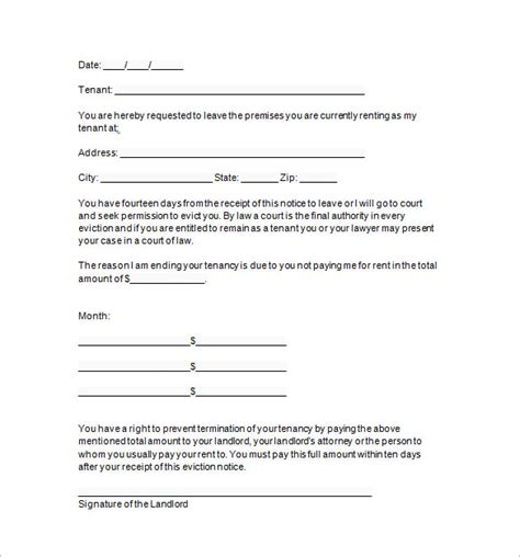 eviction notice template 13 sle eviction notice templates free sles