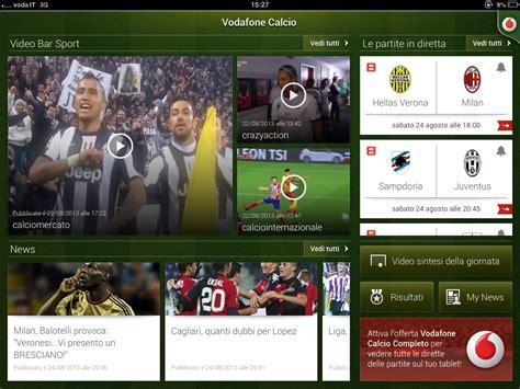 diretta gol it mobile vodafone calcio serie a in diretta 3g e lte