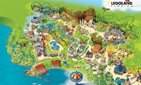 legoland map legoland florida grand opening 1 of the 5 in the world travel around the world vacation