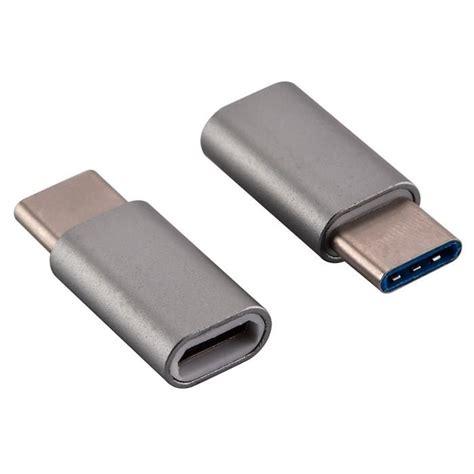 Lexcron Konektor Usb Type C Maleto Micro Usb usb c adapter usb type c to micro usb adapter for data syncing and charging