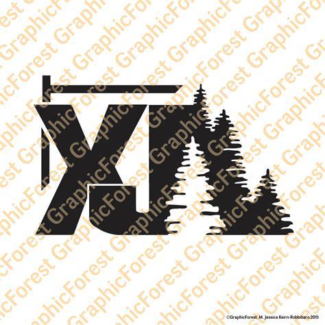 Jeep Xj Stickers Jeep Xj With Trees Decal