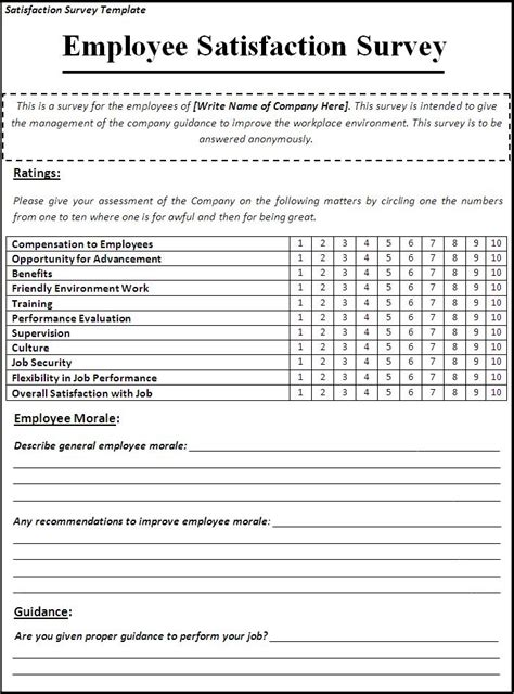 word templates for questionnaires free survey template word peerpex