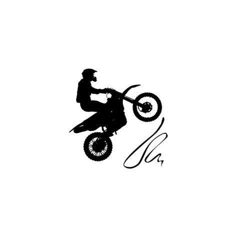 imagenes blanco y negro motos vinilo moto cross