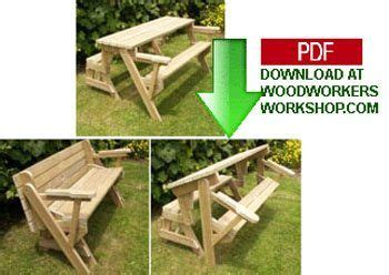 folding bench  picnic table combo  woodworking