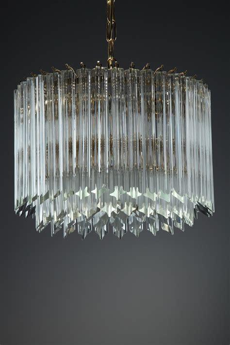 verre lustre lustre en verre de murano par paolo venini