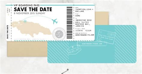 save the date passport template boarding pass save the date passport wedding invitation