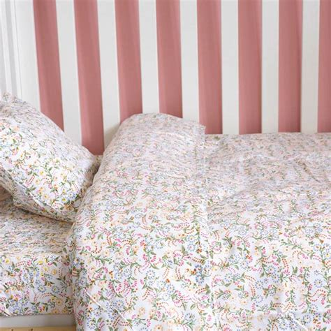 Cotbed Duvet original floral toddler cot bed duvet set by lulu and nat notonthehighstreet