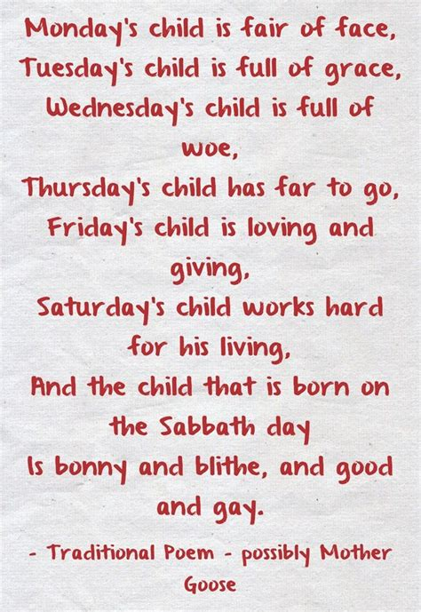 baby s s day poem 16 best images about heritage on monday s