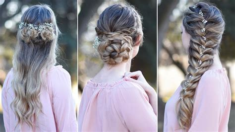 easy hairstyles for a 4 year old bridesmaid 3 prom hairstyles updo cute girls hairstyles youtube