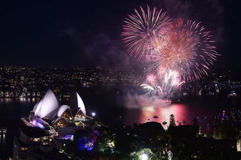 sydney opera house new year new year 2016 australia and new zealand lit up with