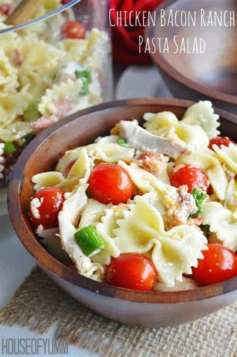 creamy ranch pasta salad family fresh meals chicken bacon ranch pasta salad house of yumm