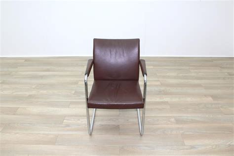 Brunner Chairs Uk by Brunner Brown Leather Cantilever Office Meeting Chairs Ebay