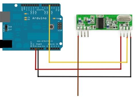 tutorial arduino rf using rf link reciever and transmitter with arduino