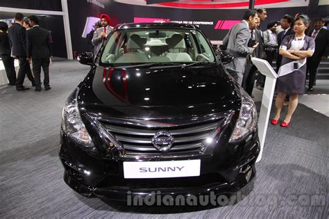nissan sunny 2016 nissan sunny sportech front at 2016 auto expo indian