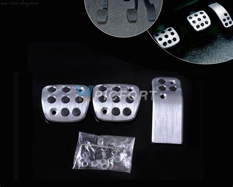 Pedal Racing Mt 9 new silver sport fuel brake racing pedals pads for mt