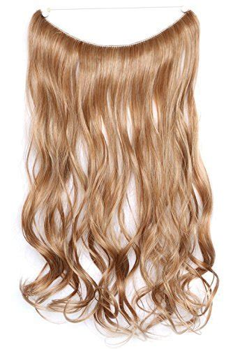 strawberry blonde halo hair extension amazon com onedor 20 quot curly synthetic hair extensions