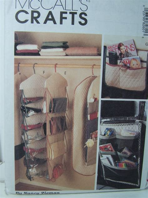sewing pattern storage pinterest mccall s crafts 8260 sewing pattern home closet gift