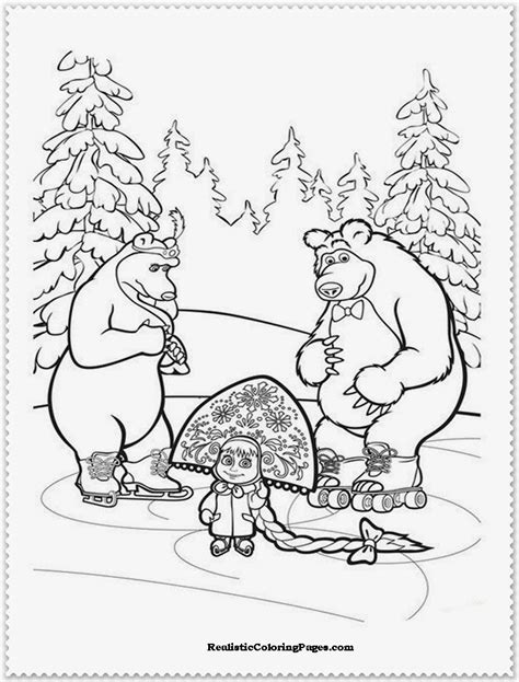 coloring pages masha and bear masha and the bear coloring pages realistic coloring pages