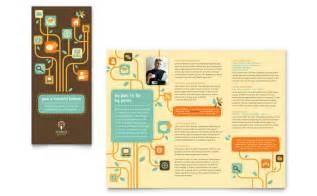 tri fold business card template word business services tri fold brochure template design