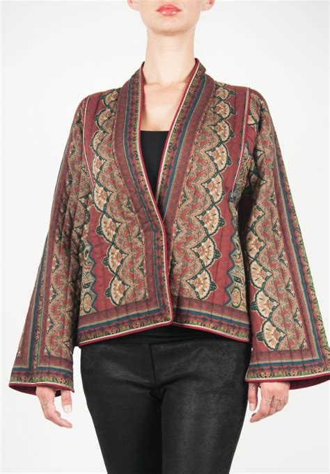tribal pattern mens jacket etro quilted jacket in tribal pattern santa fe dry goods