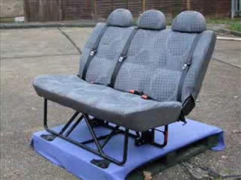 Fold Out Bench Seat Van Rear Folding Seat Youtube