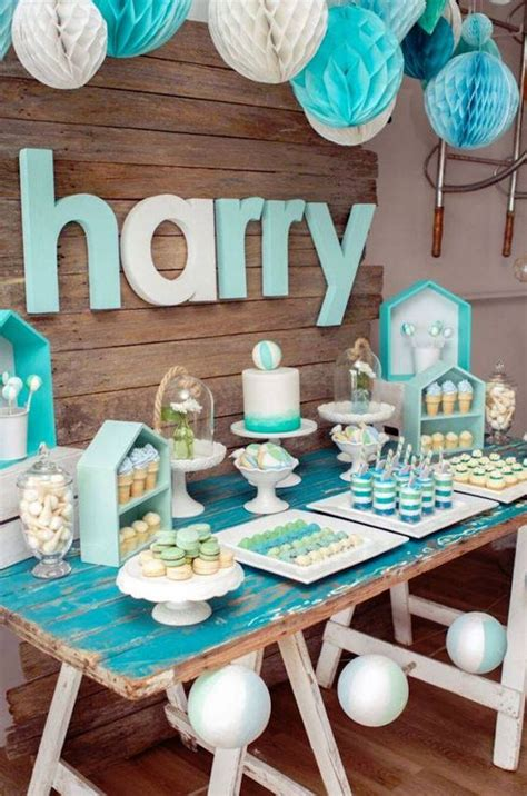 Dfs Putih Set Owl Denim 35 boy baby shower decorations that are worth trying digsdigs