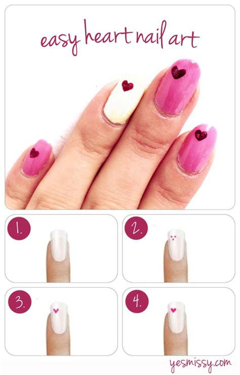 how to design your nails 35 fabulous valentine nail art ideas