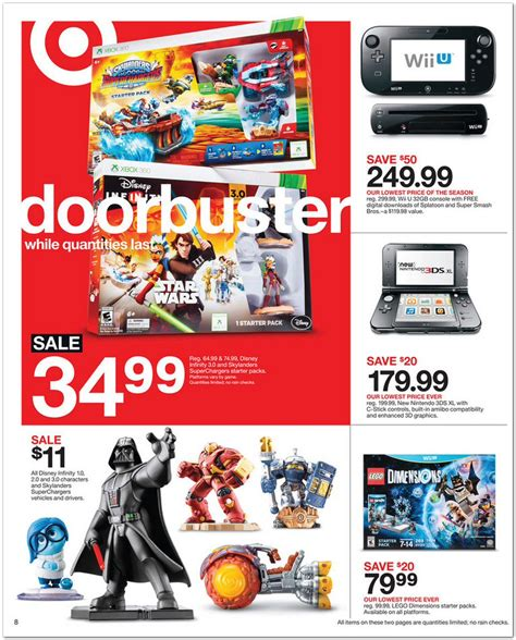 Black Friday Disney Gift Card Deals - black friday 2015 target ad leaks with deals on disney infinity 3 0 halo 5 and more