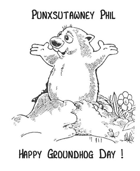 groundhog day prediction meaning coloring sheets groundhog day and embroidery on