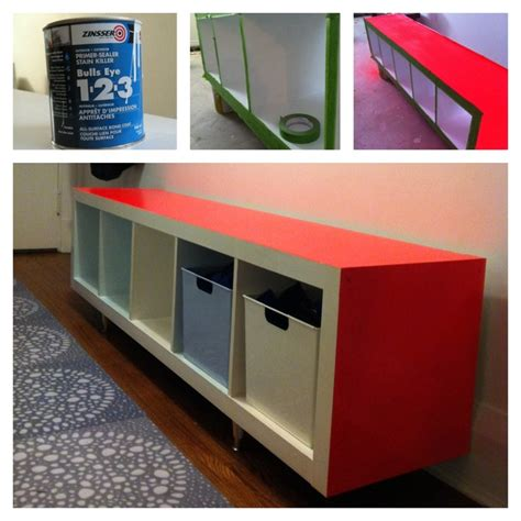 ikea expedit storage bench ikea expedit hack white fluorescent red and ice blue