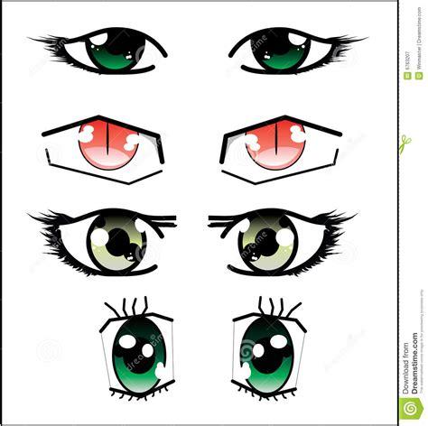 imagenes ojos anime conjunto de ojos del anime ilustraci 243 n del vector