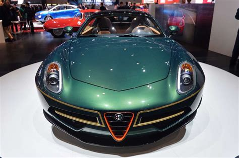 alfa romeo disco volante verde alfa romeo touring disco volante verde al salone di